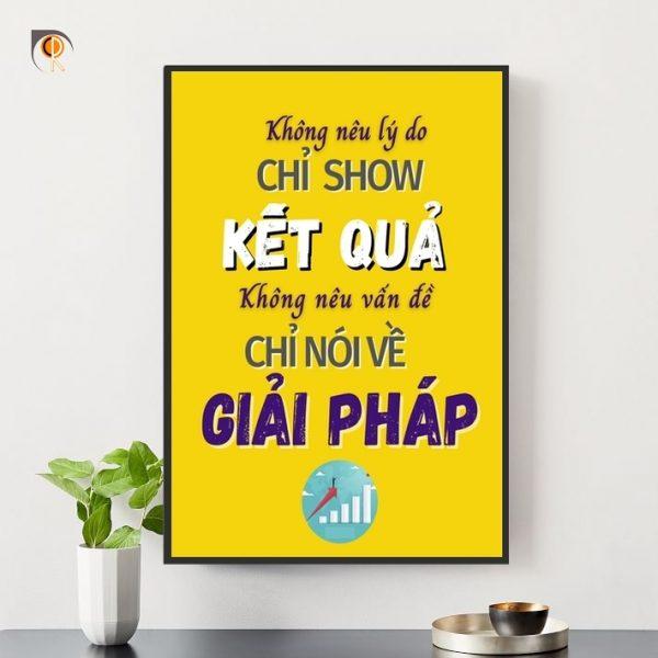 Tranh slogan giá rẻ - tranh động lực   Chungdenroi